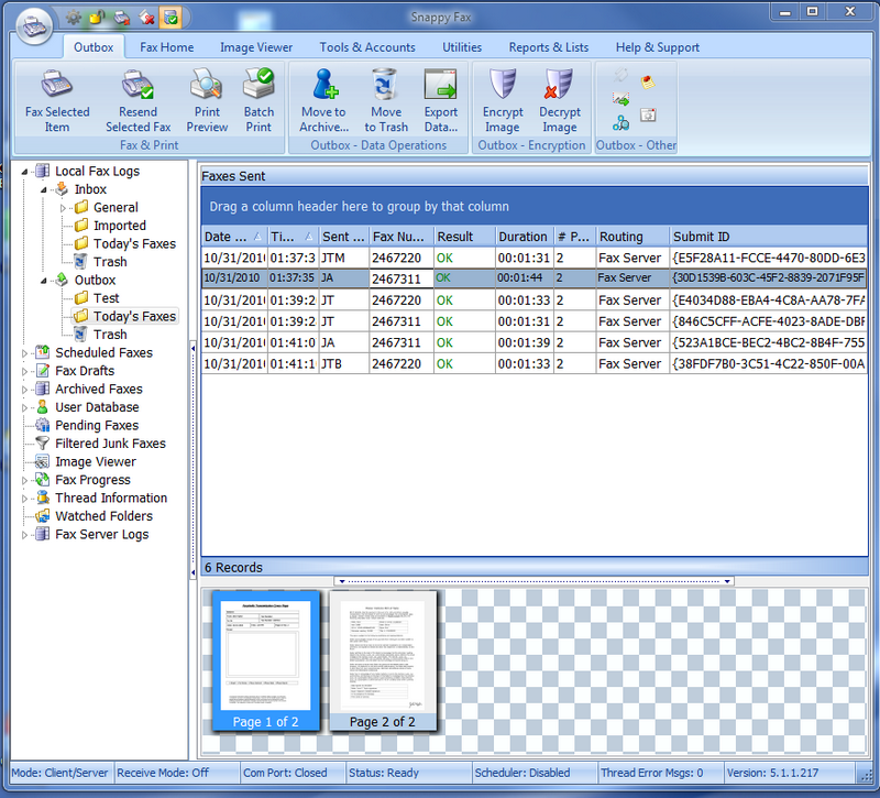 Snappy fax desktop fax software for fax broadcasting, receiving faxes, forwarding fax to email
